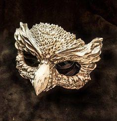 Owl mask masquerade mask costume mask fantasy by FxshopStudio Animal Masquerade Masks, Masquerade Costumes, Animal Masks, Masquerade Ball, Owl Mask, Bird Masks, Mascarade Mask, Cosplay Helmet, Forest Creatures