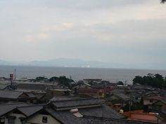 PM 島原城から見た市街と有明海、その向こうは熊本県!?