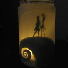 Nightmare before Christmas inspired light jar di GoldieLittleShop su Etsy