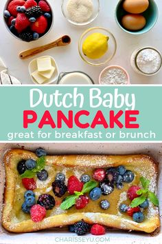 Pancakes, waffles, toast. You name it we've had it this summer. I wanted to try something new and these dutch baby pancakes came to mind! Give this a whirl, for your next family breakfast or brunch, made by hand or with a blender. Easy Toddler Meals, Easy Meals For Kids, Easy Snacks, Breakfast On The Go, Quick And Easy Breakfast, Best Breakfast, Breakfast Ideas, Baby Pancakes, Pancakes And Waffles