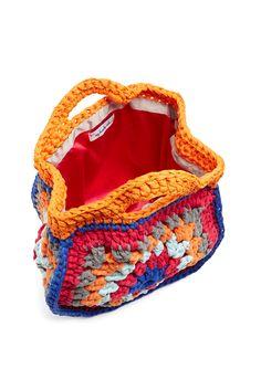 crocheted beach bag