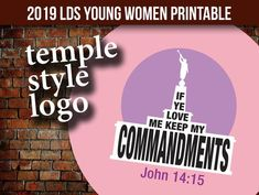 If Ye Love Me Keep My Commandments Temple Logo - LDS Young Women 2019 mutual theme - 1 inch craft circle If Ye Love Me, My Love, Temple Logo, Three Logo, Make Your Own Stickers, Bottle Cap Necklace, Personal Progress, You Loose, Bar Wrappers