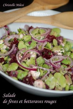 Salade de fèves et betteraves rouges