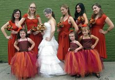 Custom Fall Themed Flower Girl Gown by KalliAlbaBridal on Etsy, $240.00 <3 This for Fall Themed Weddings!