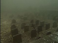 Underwater graveyard Capel Celyn Wales