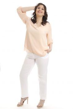 Νέες αφίξεις στα ρούχα μεγάλα μεγέθη - HappySizes Spring Is Here, White Jeans, Pants, Fashion, Trouser Pants, Moda, Fashion Styles, Women's Pants, Women Pants