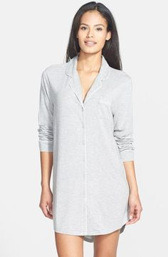 Free shipping and returns on Nordstrom 'Moonlight' Nightshirt at Nordstrom.com. Contrast piping outlines this classic menswear-inspired nightshirt styled to flatter the feminine figure with its low-cut neckline and short shirttail hem.