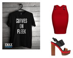 """""""Curves ON Fleek T-shirt outfit"""" by greta-iohanson ❤ liked on Polyvore featuring WithChic and Michael Kors"""