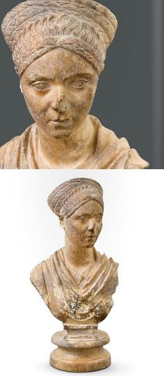Bust of a young lady contempory of Hadrian, Roman , ca 120 A.D. marble.