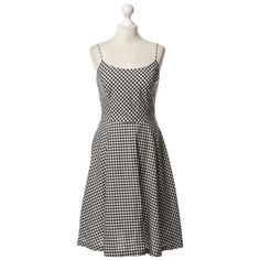 Pre-owned Summer dress with checked pattern (¥8,285) ❤ liked on Polyvore featuring dresses, checked dress, check print dress, summery dresses, paper dresses and ralph lauren dresses