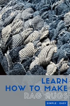 Have you ever wanted to make your own rag rug? Learn how to make one(or many) using the Amish knot technique! These unique rugs last a lifetime! Our family uses the ones I made over a decade ago! #ragrug #amishknot #ragrugdiy