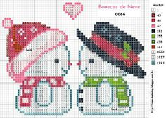 Mr & Mrs Cutie snow people to x stitch onto plastic anvas