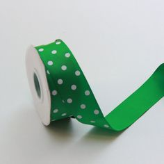5 yards Green Polka dot Ribbon 1.5 inches  Green by BnBLLC on Etsy