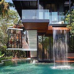 Amazing modern design. . . . . . #homegoals #homeview #view #home #luxurypictures #luxuryproperties #instagramhub #instagood #instagram #instadaily #luxurygoals #luxuryplaces #luxury #goals #mansion #waterfall #homewaterfall #modern #design #luxuryblogger #blogger