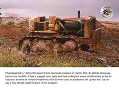 1979 pIc of a neglected at Maori Farm coalmine near Huntly Mining Equipment, Coal Mining, Life Is Hard, Royce, Military Vehicles, Tractors, New Zealand, Hunting, Activities
