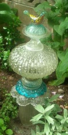 Glass Garden Totem - I love this one!