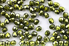 Fire-Polished Bead 3mm - Jet Heavy Metal Olivine ( Ref. #FP-3-23980-34456)