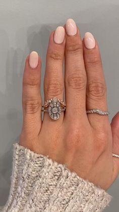 3.15 Tcw Floral leaf design rose flower shape swirl designer Twisted Halo Pave Shank Engagement Ring for women