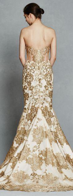 Wedding Dresses:   Illustration   Description   Gold Wedding Dress by Kelly Faetanini    -Read More –   - #WeddingDresses https://adlmag.net/2017/12/12/wedding-dresses-inspiration-gold-wedding-dress-by-kelly-faetanini-2/