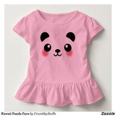 Kawaii Panda Face Toddler T-shirt