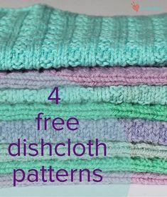 knitting for beginners dishcloth stricken für anfänger geschirrtuch tricot pour torchon débutant Knitted Washcloth Patterns, Knitted Washcloths, Dishcloth Knitting Patterns, Loom Knitting, Knitting Stitches, Free Knitting, Crochet Patterns, Simple Knitting Patterns, Dishcloth Crochet