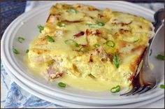Eggs Benedict Casserole...I would try this, but make my hollandaise recipe instead...