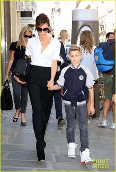 Victoria Beckham.  Romeo Beckham.