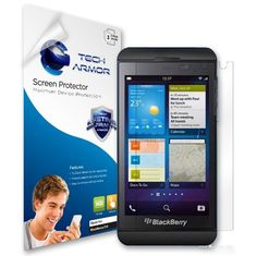 Black Friday Tech Armor Blackberry Z10 High Defintion (HD) Clear Screen Protectors -- Maximum Clarity and Touchscreen Accuracy [3Pack] Lifetime Warranty from Tech Armor