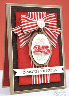 Season's Greetings card by Teneale Williams. #cards #card_making #Christmas