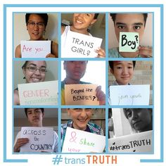 Are you a trans girl? Boy? Gender non-conforming? Beyond the binary? Join youth across the country & share your #transTRUTH!