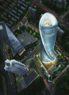 Shanghai Tower from Shanghai 632m – 128 floors--dont $&@& with Shanghai..!