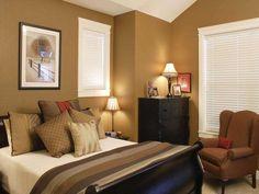 Il letto marrone su una parete color tortora | I colori nell ...