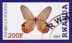 Stamp: Pierella hyceta (Cinderellas) (Rwanda) Col:RW 2009-21/01