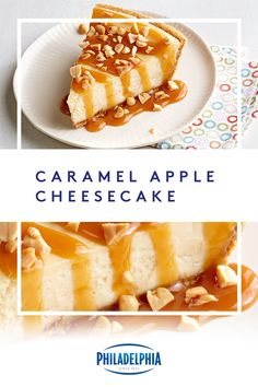 The fall flavors of sweet caramel and apples pair up in this 3-step cheesecake. Keeping it simple has never tasted so good. #ItMustBeThePhilly