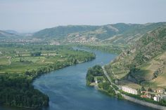 The Rhone Valley, looking down from Tournon, France