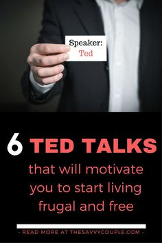 Our top 6 Ted Talks to help you start living frugal & free. Learning about money… Our top 6 Ted Talks to help you start living frugal & free. Learning about money has never been so much fun, Ted Talks make it easy! Ted Talks Video, Budget Planer, Lectures, Happiness, Money Saving Tips, Money Savers, Self Development, Financial Tips, Financial Planning
