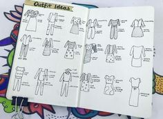 My outfit ideas spread makes my mornings so much easier! : bulletjournal