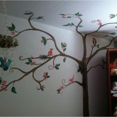 Nursery tree--I like how it spreads out, maybe not the ceiling though