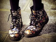 I swear, I used to have a pair of Doc Martin's that looked JUST like these - like 10 years ago at least.  Broke my heart when they didn't fit any more.