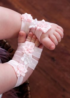 Gladiator Barefoot Baby Sandals with Matching Headband