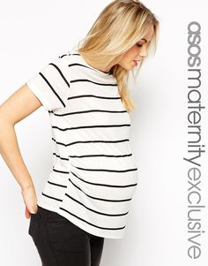 ASOS+Maternity+Breton+Stripe+T-Shirt