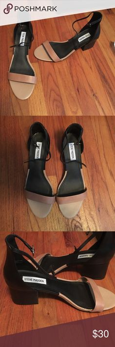 Steve Madden ankle strap heel super comfortable! easy to walk in. never worn out. size 8 in women's Steve Madden Shoes Heels