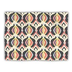 Kess InHouse Anchobee Coral Red White Wall Tapestry 51 X 60