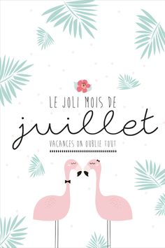 "Carte postale ""Joli mois de juillet"" à imprimer Bullet Journal Lettering Ideas, Bullet Journal 2, Bujo, Welcome July, Mood Instagram, Lettering Tutorial, Quote Prints, Happy Planner, Iphone Wallpaper"