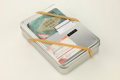 Commemorative tin w/books, photographs, letters, hand shparpend penciles, wrapped in rubber band /// 往前往後都是團圓