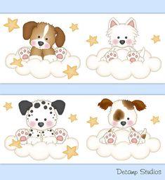 etiqueta del regalo Reno Familia y 2 perros Diseño 2 CRAFT formas placas