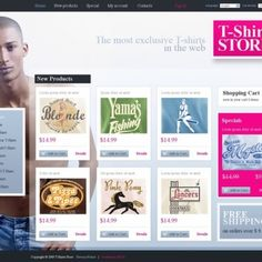 T-shirt Shop OsCommerce Template #32209