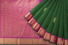 Handwoven Kanjivaram Korvai Silk Sari with Pasumaadu and Chakaram Motif  1031471 - Saris / All Saris - Parisera