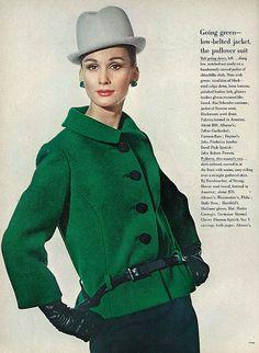 Brigitte Bauer, August Vogue 1963 | Flickr - Photo Sharing!