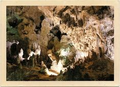 """Carlsbad Caverns National Park, Carlsbad, New Mexico - Gateway to """"Journey to the Center of the Earth,"""" 1959."""